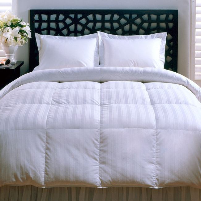 Beauty Stripe 330 Thread Count Down Alternative Comforter