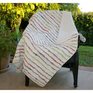 Bella Ruffle Quilted Throw