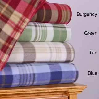 Cozy Nights Plaid Fleece Blanket
