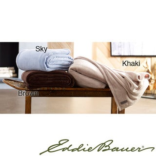 Eddie Bauer Microplush Fleece Blanket