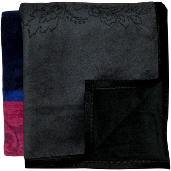 Bocasa Brocade Woven Throw Blanket