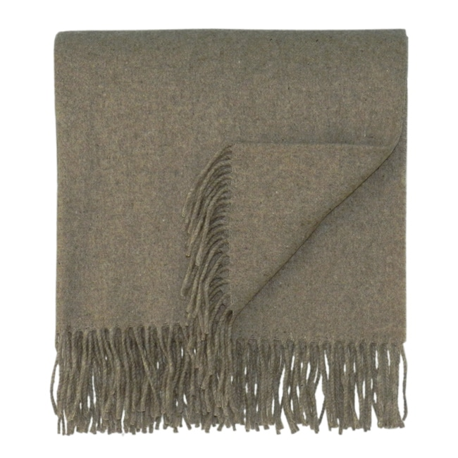 Bocasa Brown Woven Cashmere Blanket