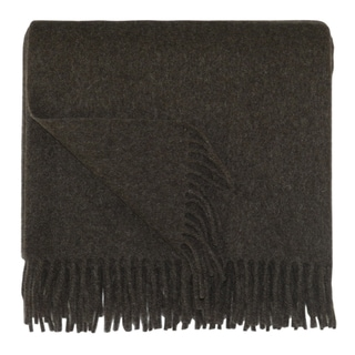 Bocasa Brown Woven Wool 50 x 67-inch Blanket