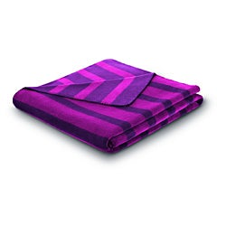 Bocasa French Stripes Plum Blanket