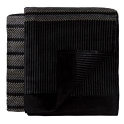 Bocasa Interior Anthracite Woven Throw Blanket