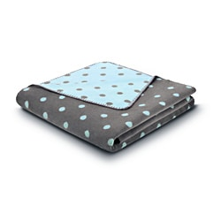 Bocasa Softly Dots Blue Blanket