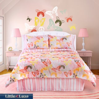 Butterfly 4-piece Queen-size Comforter Set