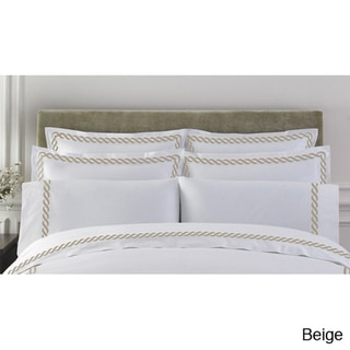 Cable Embroidered Egyptian Cotton Collection 300 Thread Count Shams (Set of 2)
