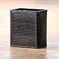 'Carter' Black Rectangular Woven Wastebasket
