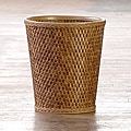 &#39;Carter&#39; Cappuccino Round Woven Wastebasket