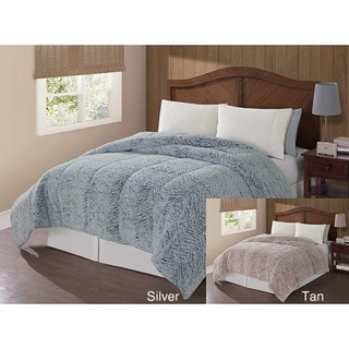 Carved Two-tone High-pile Mink Polyester Down Alternative Comforters