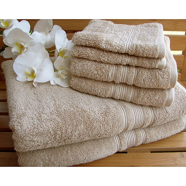 Charisma Linen Beige Premium Hygro Cotton 12-piece Towel Set