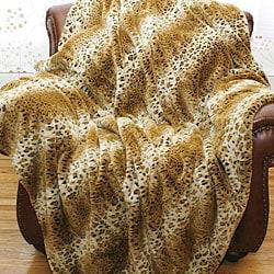 Cheetah Faux Fur Throw Blanket (58 in. x 60 in.)