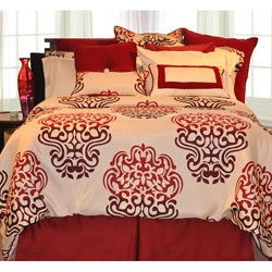 Cherry Blossom Queen-size 3-piece Duvet Cover Set