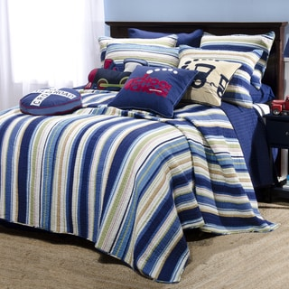 Choo Choo Stripe 4-piece Quilt Set