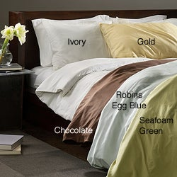 Chrysalife Silk Sandwashed Luxury Cal King-size 3-piece Duvet Cover Set