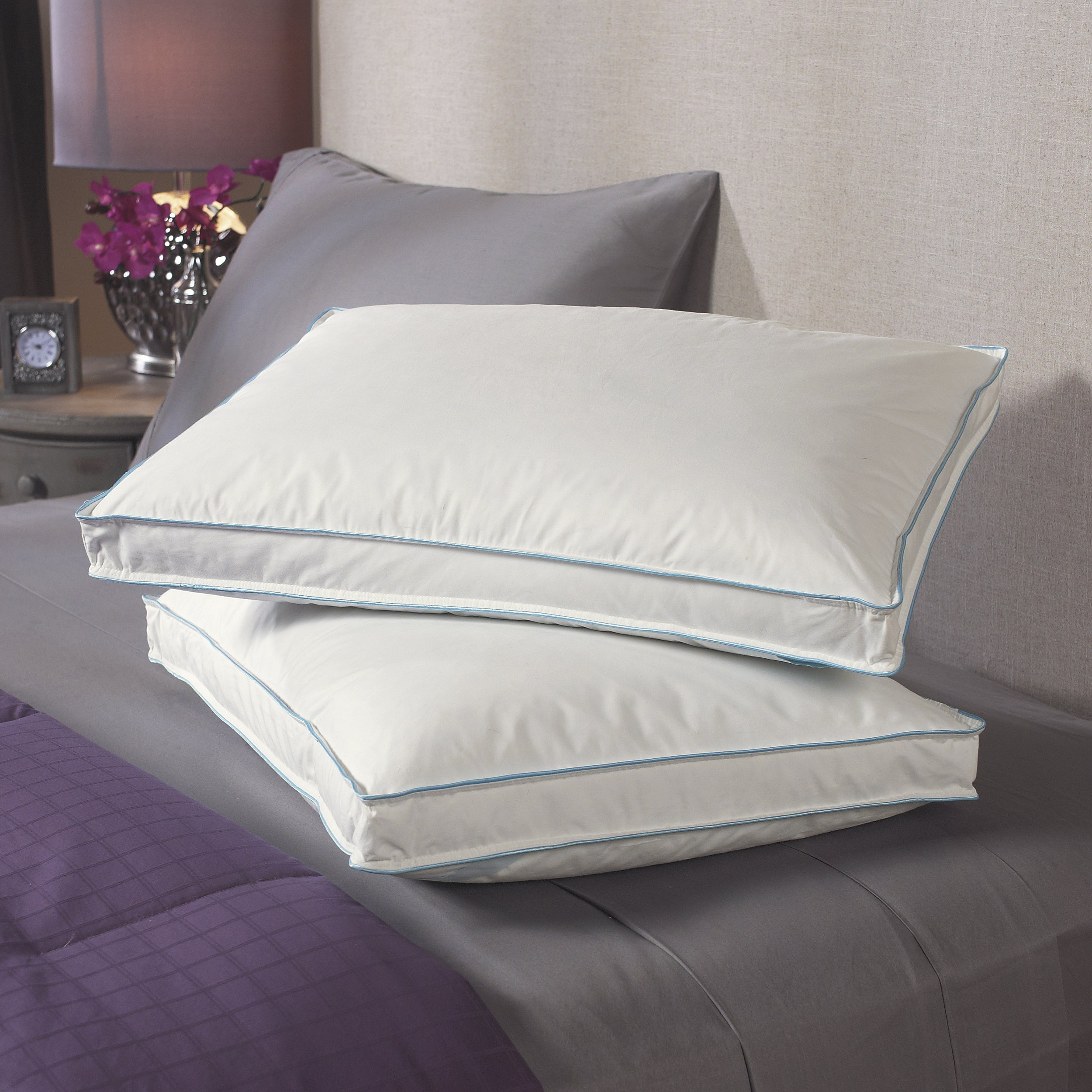 Circle of Down Extra Support 300 Thread Count Pillows (Set of 2)
