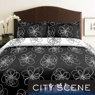 City Scene Luna 2-piece Twin-size Duvet Cover Set