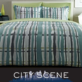 City Scene Urban Plaid 7-piece Bed in a Bag with Sheet Set