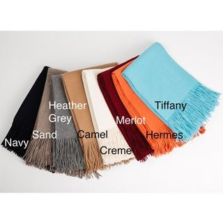 Collection de Cashmere Woven Cashmere Waterweave Throw