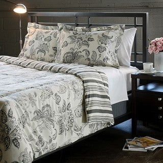 Cordoba Grey Full/ Queen-size 3-piece Comforter Set