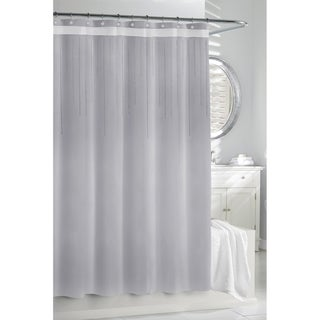 Silver Rhinestones Shower Curtain