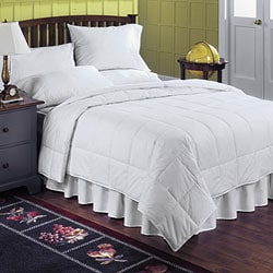 Cotton 230 Thread Count White Down All Season Lightweight Comforter