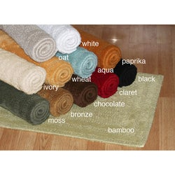 Cotton Reversible Bathroom Rug (24 in x 34 in)