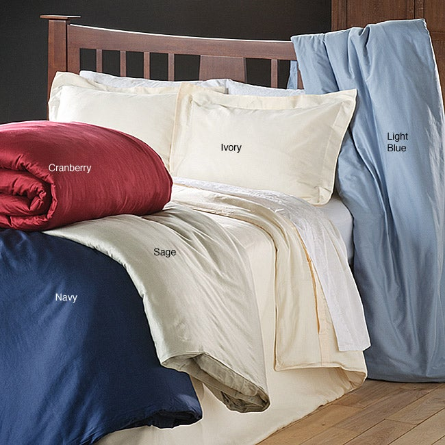 Cotton Sateen 250 Thread Count 3-piece Duvet Cover Set