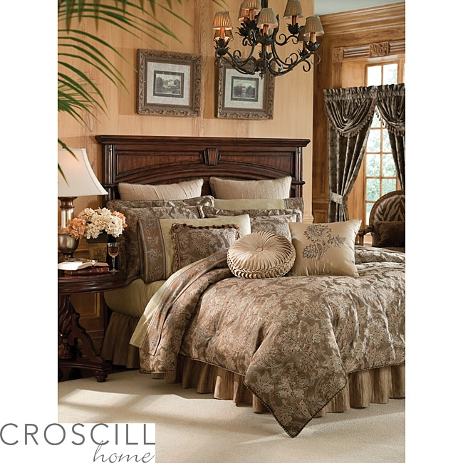 Croscill Botticelli Taupe Queen-size 4-piece Comforter Set