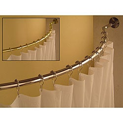 Curved 78 to 84-inch Shower Curtain Rod