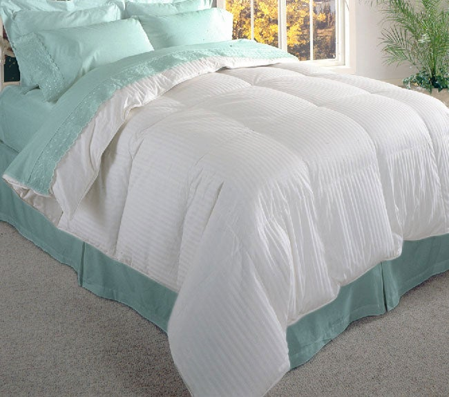 AT HOME by O Damask Stripe 600 Thread Count Siberian White Down Comforter at Sears.com