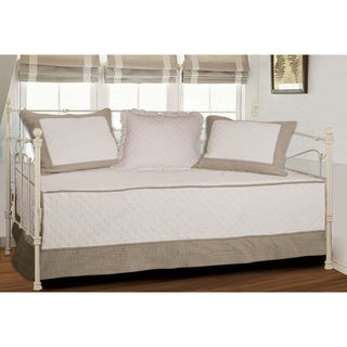 Brentwood Quilted Ivory/Taupe 4-piece Daybed Set