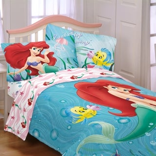 Disney Little Mermaid 'Sea Friends' 4-piece Bed in a Bag with Sheet Set