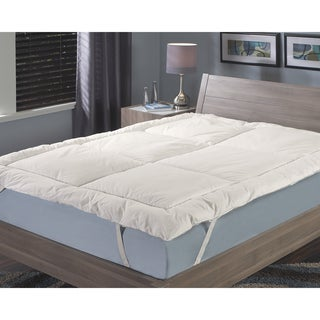 Famous Maker Classic Framed Box Fiberbed Mattress Topper