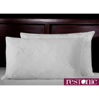 Restonic White Duck Feather Pillow (Set of 2)