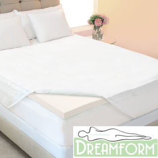 Dream Form Eco-friendly 3-inch Queen/ King/ Cal King-size Memory Foam Mattress Topper with Skirted Cover