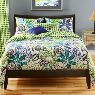 Bali Reversible Queen-size 6-piece Duvet Cover Set