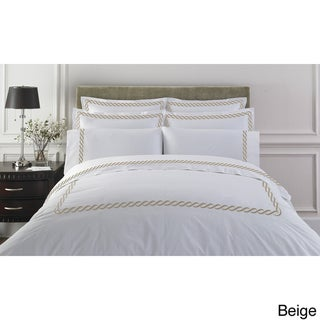 Cable Embroidered Egyptian Cotton Collection 300 Thread Count Duvet Cover
