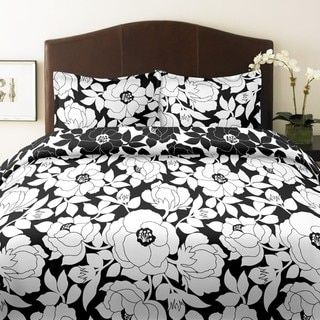 City Scene Mckenzie Floral Full/ Queen-size 3-piece Duvet Cover Set