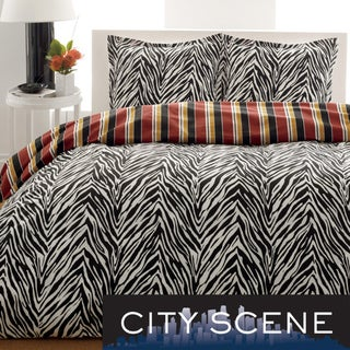 City Scene Safari 3-Piece Duvet Cover Set