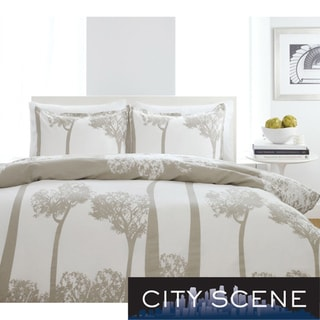 City Scene Tree Top Full/ Queen-size 3-piece Duvet Cover Set