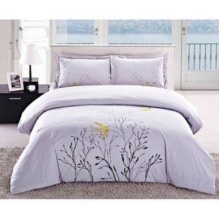 Swallow Embroidered 3-piece Duvet Cover Set