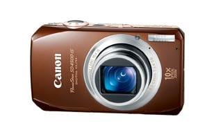 Canon Powershot SD4500IS 10MP Brown Digital Camera
