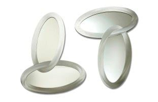 Jon Gilmore Designs Connections 2-piece Silver Oval Mirror