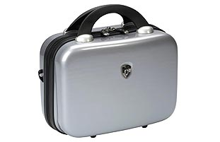 Heys Vcase Metallic Silver Hardside Beauty Case