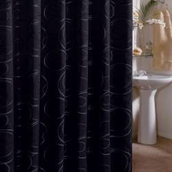 Edmon Black Shower Curtain