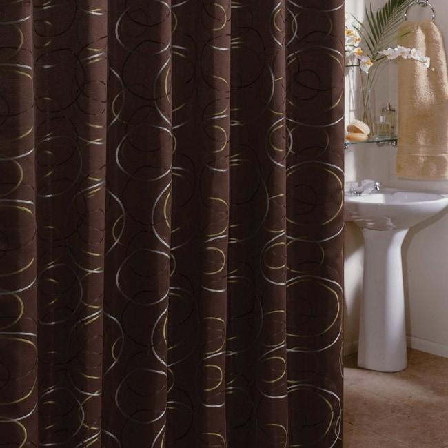 Edmon Chocolate 72-inch Shower Curtain