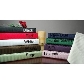 Egyptian Cotton 300 Thread Count Queen-size Waterbed Stripe Sheet Set
