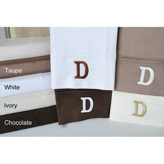 Egyptian Cotton 300 Thread Count Solid Block 'D' Monogram Sheet Set